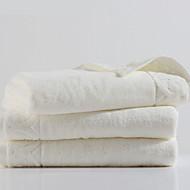 baratos Toalha de Mão-Qualidade superior Toalha de Banho / Toalha de Mão, Sólido 100% algodão 3 pcs