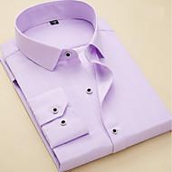 פסים / גיאומטרי עסקים / בסיסי עבודה חולצה - בגדי ריקוד גברים / שרוולים קצרים / שרוול ארוך