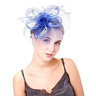 Dame Vintage / Elegant fascinator Blomst / Net, Ensfarvet