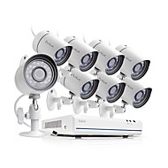 tanie Zestawy z rejestratorem sieciowym (NVR)-funlux® 8ch 1080p hdmi nvr uproszczony poe 8x 720p hd system kamer bezpieczeństwa zewnętrznego / wewnętrznego