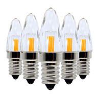 baratos Luzes LED de Dois Pinos-YWXLIGHT® 5pçs 3W 200-300lm E14 Lâmpada Redonda LED / Luminárias de LED  Duplo-Pin 5 Contas LED COB Regulável Branco Quente / Branco Frio