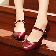 billige Moderne sko-Dame Moderne sko Fuskelær Høye hæler Kustomisert hæl Kan spesialtilpasses Dansesko Sølv / Mørkerød / Rød / Innendørs