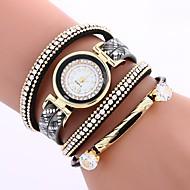 billige Quartz-Dame Armbåndsur Kinesisk Imiteret Diamant / Afslappet Ur PU Bånd Bohemisk / Mode Sort / Rød / Brun