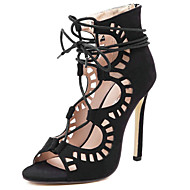 cheap Women's Sandals-Women's Shoes Synthetic Microfiber PU Spring & Summer Fashion Boots / Ankle Strap Sandals Stiletto Heel Open Toe Booties / Ankle Boots