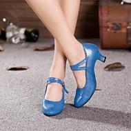 billige Moderne sko-Dame Moderne sko Kustomiserte materialer Høye hæler Kustomisert hæl Kan spesialtilpasses Dansesko Gull / Svart / Blå / Innendørs