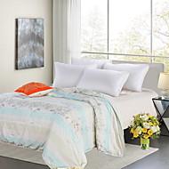 billiga Täcken och överkast-Bekväm - 1 st. Sängöverkast Sommar Mikrofiber Enfärgad / Geometrisk / Tryck