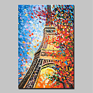 cheap Oil Paintings-Oil Painting Hand Painted - Abstract Landscape Modern Canvas