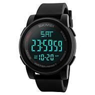 billige Sportsur-Herre Dame Digital Digital Watch Sportsur Kinesisk Kalender Vandafvisende Afslappet Ur Dobbelte Tidszoner LCD Silikone Bånd Elegant Mode