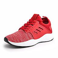 baratos Sapatos Masculinos-Homens Couro Ecológico Verão Conforto Tênis Corrida / Fitness Preto / Cinzento / Vermelho