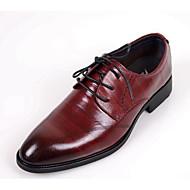 baratos Sapatos Masculinos-Homens Pele Outono Conforto Oxfords Preto / Vinho