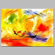 voordelige -Hang-geschilderd olieverfschilderij Handgeschilderde - Abstract / Sporten Modern Kangas