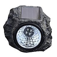 billiga Belysning-BRELONG® 1st 1 W Lawn Lights Vattentät / Sol / Dekorativ Vit 2 V Utomhusbelysning / Gård / Trädgård 4 LED-pärlor