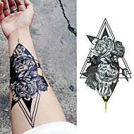 billiga Temporära tatueringar-3pcs Klistermärke Blomserier / romantisk Series Tatueringsklistermärken