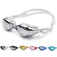 billiga Swim Goggles-Simglasögon Anti-Dimma / Justerbar storlek / Vattentät Kiselgel PC Vit / Svart / Mörkblå Grön / Rosa / Svart