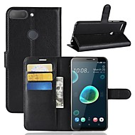 billiga Mobil cases & Skärmskydd-fodral Till HTC U11 / HTC Desire 12 Plånbok / Korthållare / Lucka Fodral Enfärgad Hårt PU läder för HTC U11 plus / HTC U11 Life / HTC U11