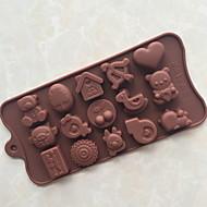 billige Bakeredskap-kjøkken Verktøy Silikon GDS Bakeform Sjokolade 1pc