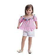 Djeca Dijete koje je tek prohodalo Djevojčice Prugasti uzorak Color block Kratkih rukava Majica s kratkim rukavima