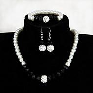Femme Ensemble de bijoux - Imitation de perle Mode Comprendre Boucles d'oreille goutte / Pendentif de collier Blanc Pour Mariage / Soirée / Anniversaire