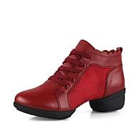 billige Moderne sko-Dame Moderne sko Netting / Lær Joggesko Lav hæl Kan spesialtilpasses Dansesko Hvit / Svart / Rød / Ytelse