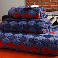 billiga Handdukar och badrockar-Överlägsen kvalitet Badhandduk set, Geometrisk Polyester / Bomull Blandning 3 pcs