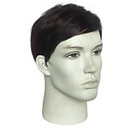 Wig Accessories Ravan kroj Stil Bob frizura Capless Perika Smeđa Black / Brown Sintentička kosa Muškarci Modni dizajn / sintetički / novi Smeđa Perika Kratko Prirodna perika