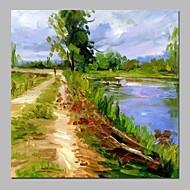 billiga Landskapsmålningar-Hang målad oljemålning HANDMÅLAD - Abstrakt / Landskap Vintage Duk