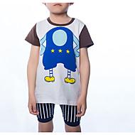 Infantil Para Meninos Estampado Manga Curta Conjunto