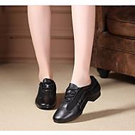billige Moderne sko-Dame Moderne sko Lær / Tyll Oxford / Joggesko Flat hæl Dansesko Svart / Ytelse / Trening