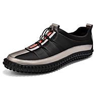 baratos Sapatos Masculinos-Homens Couro Ecológico Outono Conforto Tênis Caminhada Estampa Colorida Preto / Prata