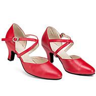 billige Moderne sko-Dame Moderne sko Lær Høye hæler Stiletthæl Dansesko Svart / Rød / Ytelse / Trening