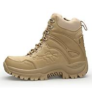 baratos Sapatos Masculinos-Homens Fashion Boots Pele Nobuck / Couro Ecológico Outono Conforto / Botas da Moda Botas Caminhada Verde Tropa / Castanho Claro / Castanho Escuro