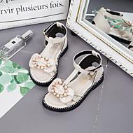 baratos Sapatos de Menina-Para Meninas Sapatos Couro Ecológico Verão Conforto / Sapatos para Daminhas de Honra Sandálias Caminhada Pérolas / Presilha para Bébé /