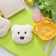 billige Bakeredskap-teddybjørn form sandwich cutter diy plast ris mold onigiri cutter