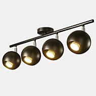 billige Spotlys-QIHengZhaoMing 4-Light Spotlys Omgivelseslys Malte Finishes Metall 110-120V / 220-240V Varm Hvit Pære Inkludert