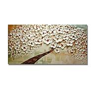 billiga Blom-/växtmålningar-styledecor® modern handmålad röd knopp vit blomma träd oljemålning väggkonst på inslagna duk
