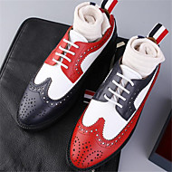 baratos Sapatos Masculinos-Homens Couro Primavera / Outono Conforto Oxfords Golfe Estampa Colorida Branco