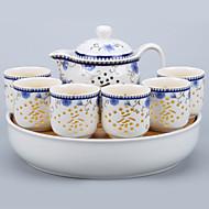 billige Kaffe og te-8pcs Porselen Tekannesett Varmebestandig ,  16*11.5;25.5*25.5*5.5;6*6*6cm