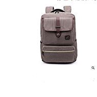 billige Skoletasker-Unisex Tasker Oxfordtøj Skoletaske Lynlås for Skole Brun / Grå / Mørkebrun