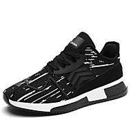 baratos Sapatos Masculinos-Homens Tricô Primavera Conforto Tênis Corrida / Fitness Preto / Branco / Preto / Preto / Vermelho