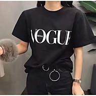 Tee-shirt Femme, Lettre Sortie Blanc L