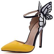 baratos Sapatos Femininos-Mulheres Sapatos Couro Envernizado Verão / Outono Conforto / Plataforma Básica Saltos Salto Agulha Roxo / Amarelo / Festas & Noite