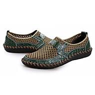 baratos Sapatos Masculinos-Homens Tule Verão Conforto Mocassins e Slip-Ons Azul Escuro / Marron / Verde Escuro