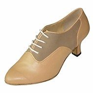 billiga Dansskor-Dam Moderna skor / Dansskor Läder Oxfordsko Stilettklack Dansskor Mandel / Prestanda / Träning