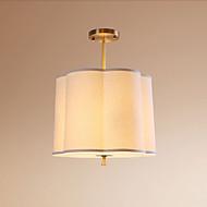 billige Taklamper-QIHengZhaoMing 3-Light Anheng Lys Omgivelseslys Messing Metall Stof Øyebeskyttelse 110-120V / 220-240V Varm Hvit Pære Inkludert / E26 / E27