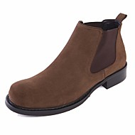 baratos Sapatos Masculinos-Homens Curta/Ankle Pele Napa / Pele Inverno Botas Botas Curtas / Ankle Preto / Khaki