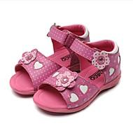 baratos Sapatos de Menina-Para Meninas Sapatos Couro Primavera & Outono Sapatos para Daminhas de Honra / Solados com Luzes Sandálias Laço / Poa / Velcro para Bébé