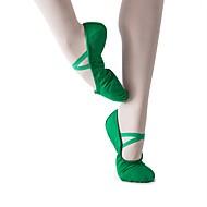 billige Ballettsko-Jente Ballettsko Lerret Høye hæler Flat hæl Dansesko Mørkegrønn