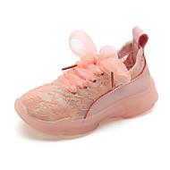 baratos Sapatos de Menina-Para Meninas Sapatos Tule Primavera Verão Conforto Tênis Caminhada Cadarço para Infantil Amarelo / Verde / Rosa claro