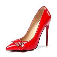baratos Sapatos Femininos-Mulheres Stiletto Heels Couro Ecológico Outono & inverno Plataforma Básica Saltos Salto Agulha Preto / Vermelho / Amêndoa