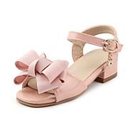 baratos Sapatos de Menina-Para Meninas Sapatos Courino Verão Conforto Sandálias Pedrarias / Laço / Colchete para Infantil Preto / Rosa claro